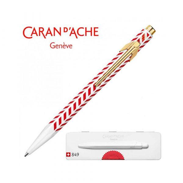 długopisy żelowe 4 alibiuro.pl Długopis CARAN D Inch ACHE 849 Chevron M w pudełku czerwony 43