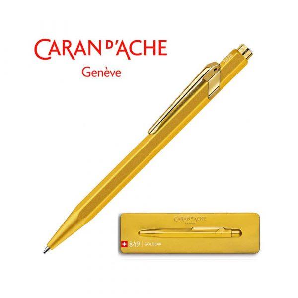 długopisy żelowe 4 alibiuro.pl Długopis CARAN D Inch ACHE 849 Goldbar M w pudełku złoty 50