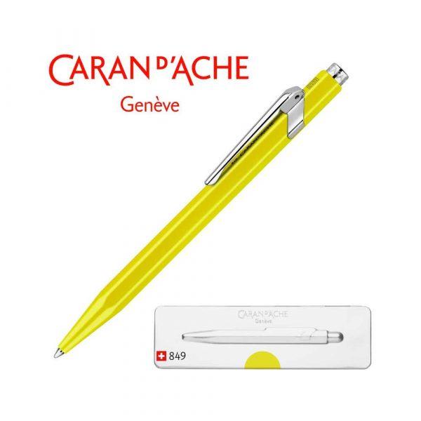 długopisy żelowe 4 alibiuro.pl Długopis CARAN D Inch ACHE 849 Pop Line Fluo M w pudełku żółty 3