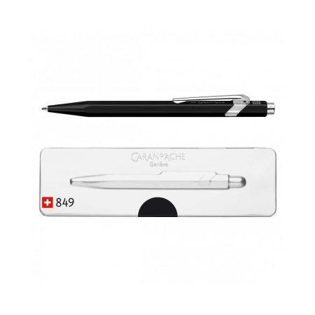 długopisy żelowe 4 alibiuro.pl Długopis CARAN D Inch ACHE 849 Pop Line Fluo M w pudełku czarny 0