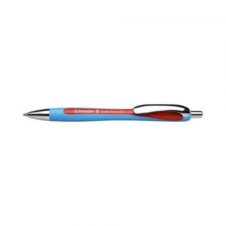 długopisy żelowe 4 alibiuro.pl Długopis automatyczny SCHNEIDER Slider Rave XB czerwony 84