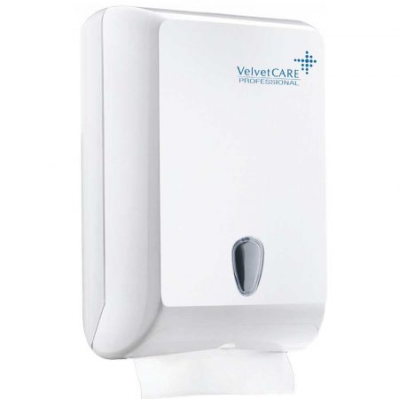 dozownik papieru toaletowego 4 alibiuro.pl Podajnik do ręczników składanych ZZ VELVET ABS biały 83