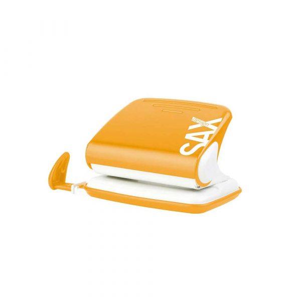 dziurkacz biurowy 4 alibiuro.pl Dziurkacz SAXDesign 318 dziurkuje do 20 kartek pomarańczowy display 19