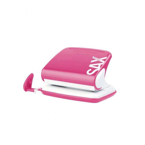 dziurkacze na biurko 4 alibiuro.pl Dziurkacz SAXDesign 318 dziurkuje do 20 kartek różowy display 37