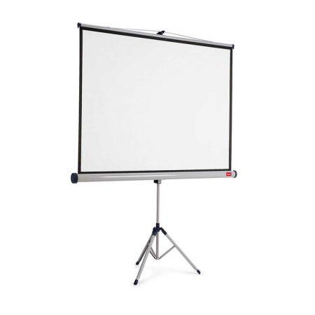 ekran sterowany elektrycznie 4 alibiuro.pl Ekran projekcyjny NOBO na trójnogu 4 3 1750x1325mm biały 2
