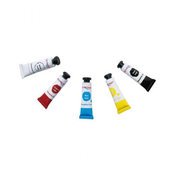 farby akwarelowe 4 alibiuro.pl Farby tempera KEYROAD 5x10ml zawieszka 5 kolorów 83