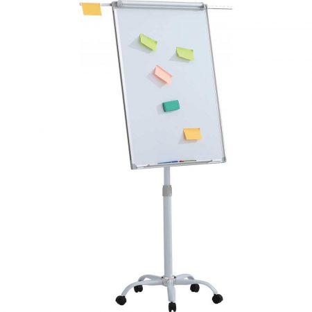 flipchart 4 alibiuro.pl Flipchart mobilny OFFICE PRODUCTS 70x100cm tablica suchoś. magn. aluminiowa rama z wyciąganymi ramionami 76