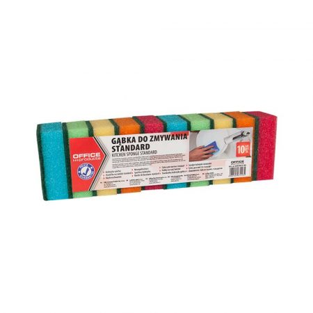 gąbka zmywak 4 alibiuro.pl Gąbka do zmywania OFFICE PRODUCTS Standard 10szt. mix kolorów 7