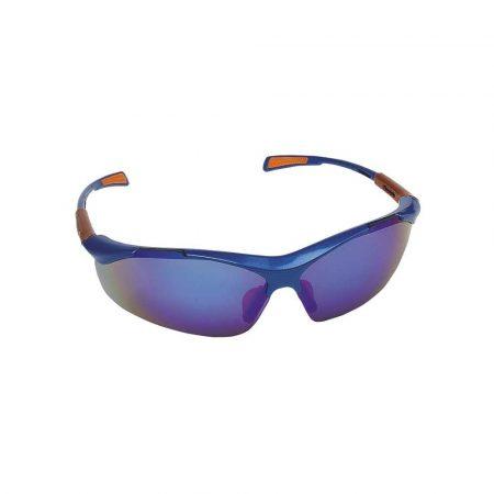 gogle ochronne 4 alibiuro.pl Okulary ochronne Nellore szyba 1F UV lustrzanki niebieskie 35