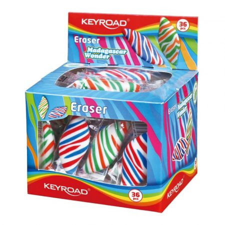 gumka 4 alibiuro.pl Gumka uniwersalna KEYROAD Tropical Wonder pakowane na displayu mix kolorów 2