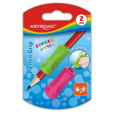 gumka kreślarska 4 alibiuro.pl Uchwyt ergonomiczny KEYROAD Pencil Grip 2szt. blister mix kolorów 32