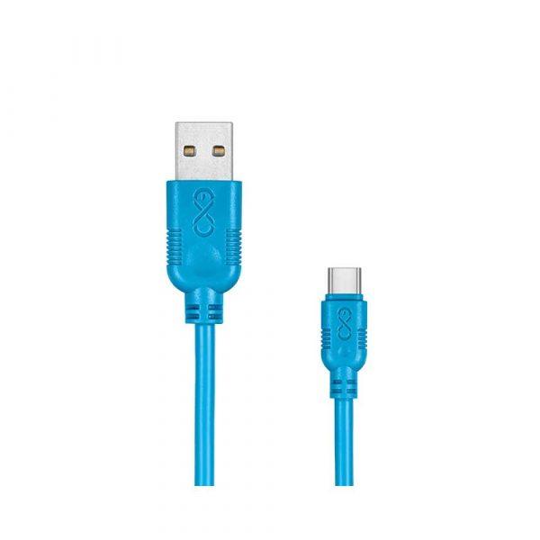 kabel monitorowy 4 alibiuro.pl Uniwersalny kabel USB 2.0 do USB C EXC Whippy 0 9m niebieski 36