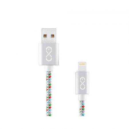 kabel sieciowy 4 alibiuro.pl Kabel kompatybilny z lightning EXC Diamond 1 5m biały mix kolorów 45