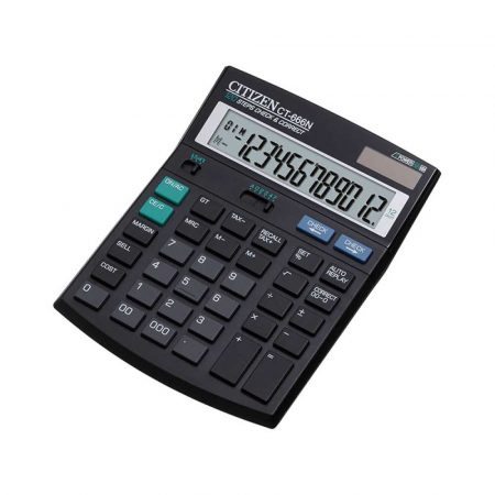kalkulator biurkowy 4 alibiuro.pl Kalkulator biurowy CITIZEN CT 666N 12 cyfrowy 188x142mm czarny 29