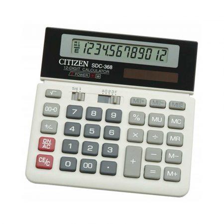 kalkulator biurkowy 4 alibiuro.pl Kalkulator biurowy CITIZEN SDC 368 12 cyfrowy 152x152mm czarno biały 90