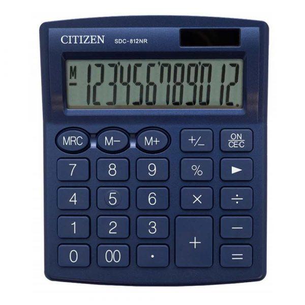 kalkulator biurkowy 4 alibiuro.pl Kalkulator biurowy CITIZEN SDC 812NRNVE 12 cyfrowy 127x105mm granatowy 69