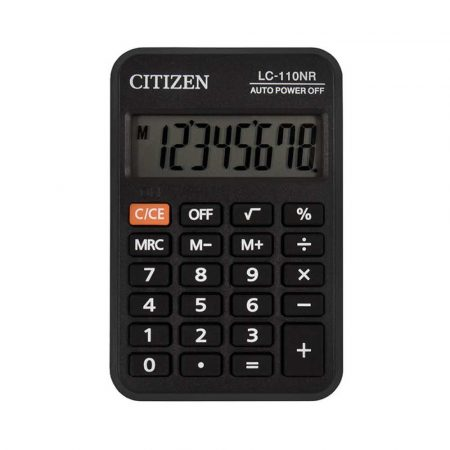 kalkulator biurkowy 4 alibiuro.pl Kalkulator kieszonkowy CITIZEN LC110NR 8 cyfrowy 88x58mm czarny 70