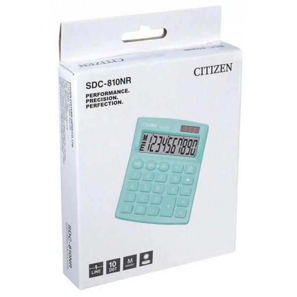 kalkulator biurowy 4 alibiuro.pl Kalkulator biurowy CITIZEN SDC 810NRGRE 10 cyfrowy 127x105mm zielony 96