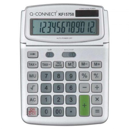 kalkulatory biurowe 4 alibiuro.pl Kalkulator biurkowy Q CONNECT 12 cyfrowy 140x180mm szary 20