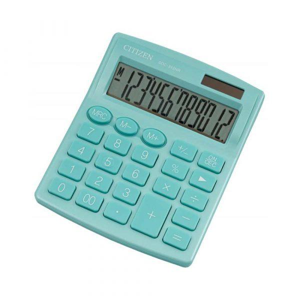 kalkulatory biurowe 4 alibiuro.pl Kalkulator biurowy CITIZEN SDC 812NRGRE 12 cyfrowy 127x105mm zielony 74