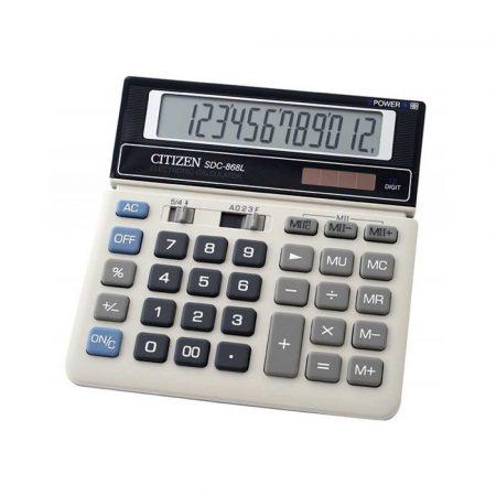kalkulatory biurowe 4 alibiuro.pl Kalkulator biurowy CITIZEN SDC 868L 12 cyfrowy 154x152mm czarno biały 64