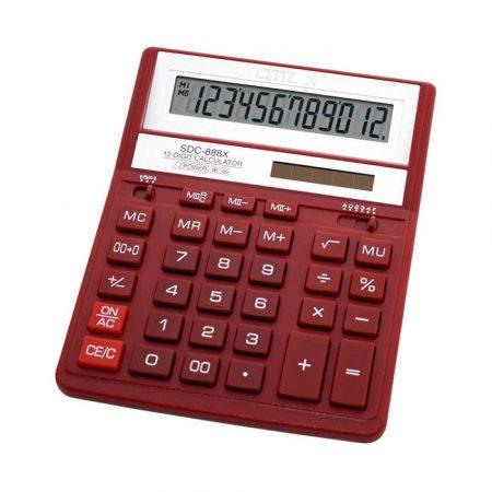 kalkulatory biurowe 4 alibiuro.pl Kalkulator biurowy CITIZEN SDC 888XRD 12 cyfrowy 203x158mm czerwony 71