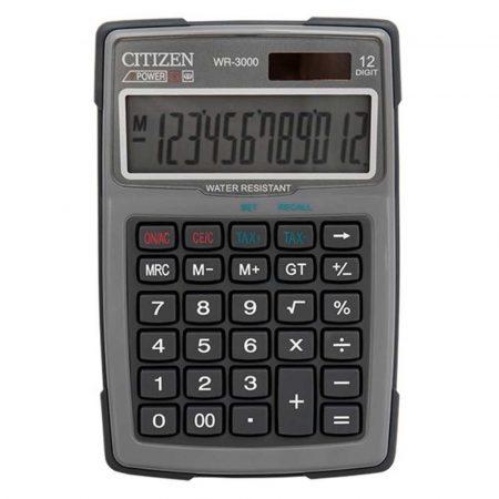 kalkulatory biurowe 4 alibiuro.pl Kalkulator wodoodporny CITIZEN WR 3000 152x105mm szary 36
