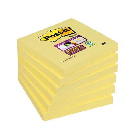 karteczki samoprzylepne 4 alibiuro.pl Bloczek samoprzylepny POST IT Super Sticky 654 12SSCY EU 76x76mm 1x90 kart. żółty 54