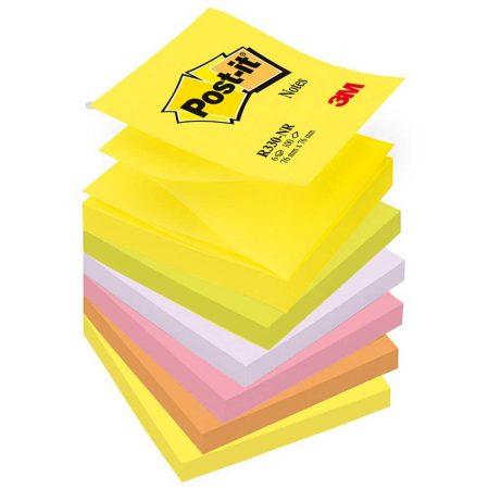 karteczki samoprzylepne 4 alibiuro.pl Bloczek samoprzylepny POST IT Z Notes R330 NR 76x76mm 6x100 kart. neonowy 84