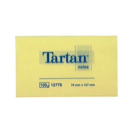 karteczki samoprzylepne 4 alibiuro.pl Bloczek samoprzylepny TARTAN 12776 127x76mm 1x100 kart. żółty 66