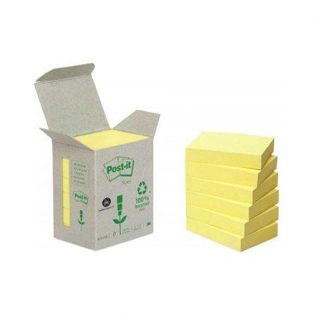 karteczki samoprzylepne 4 alibiuro.pl Bloczki ekologiczne POST IT 653 1B 38x51mm 6x100 kart. żółte 2