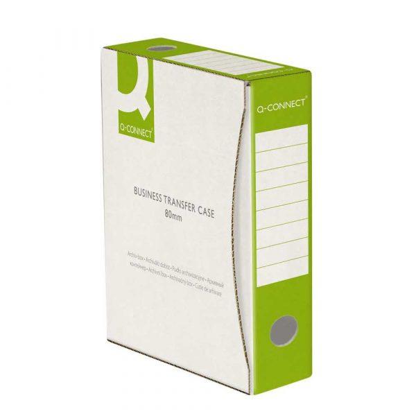karton archiwizacyjny 4 alibiuro.pl Pudło archiwizacyjne Q CONNECT karton A4 80mm zielone 84