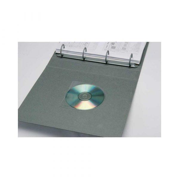 kieszeń samoprzylepna 4 alibiuro.pl Kieszeń samoprzylepna Q CONNECT na 2 4 płyty CD DVD 127x127mm 10szt. 45