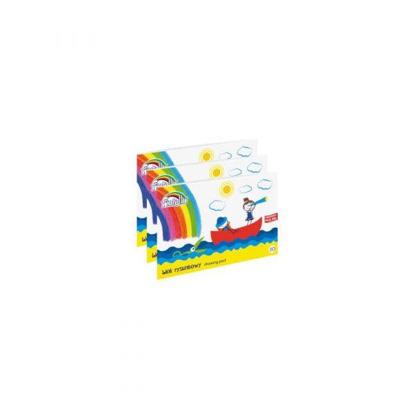 kołozeszyt 1 alibiuro.pl Blok rysunkowy biały A4 20 kartek 97