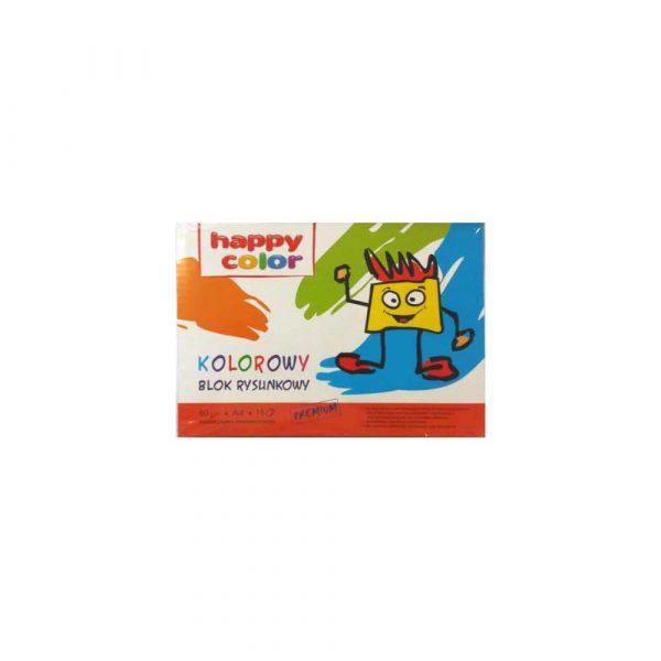 kołozeszyty 1 alibiuro.pl Blok rysunkowy kolorowy A4 15 ark. 80 g m Happy Color HA 3708 2030 09 83