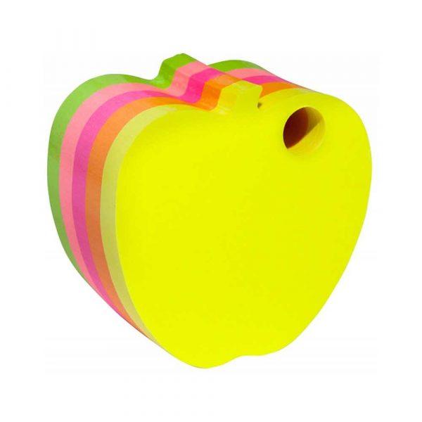 kolorowe karteczki 4 alibiuro.pl Bloczek samoprzylepny DONAU jabłko kostka 1x400 kart. neonowe 53