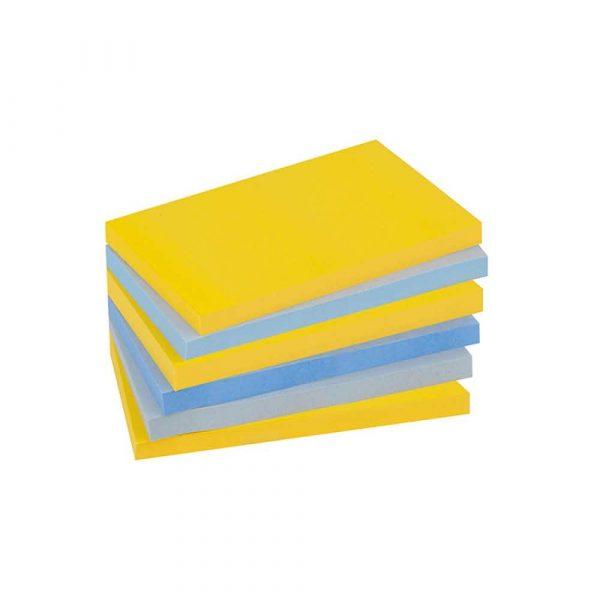 kolorowe karteczki 4 alibiuro.pl Bloczek samoprzylepny POST IT Super sticky 655 6SS NY 127x76mm 6x90 kart. new york 89