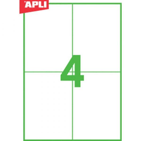 kolorowe karteczki 4 alibiuro.pl Etykiety ekologiczne APLI 105x148mm prostokątne białe 98