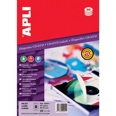 kolorowe karteczki 4 alibiuro.pl Etykiety na płyty CD DVD APLI średnica 114 41mm okrągłe białe 52