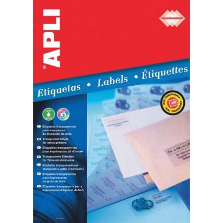 kolorowe karteczki 4 alibiuro.pl Etykiety poliestrowe APLI 70x37mm prostokątne transparentne 10 ark. 32