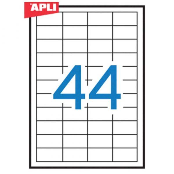 kolorowe karteczki 4 alibiuro.pl Etykiety uniwersalne APLI 48 5x25 4mm prostokątne białe 100 ark. 3