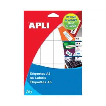 kolorowe karteczki 4 alibiuro.pl Etykiety uniwersalne APLI 49x100mm zaokrąglone białe 17 ark. 38