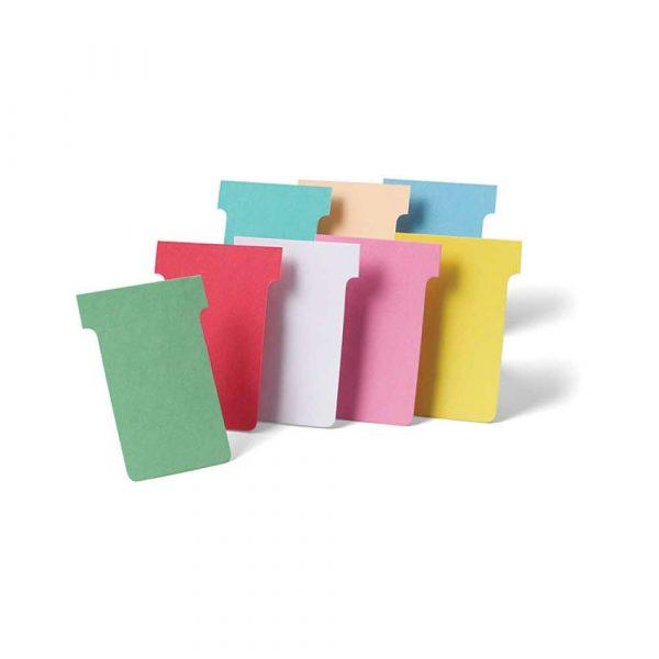 kolorowe karteczki 4 alibiuro.pl Karteczki NOBO T Card rozmiar 2 100szt. różowy 79
