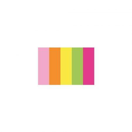 kostka klejona 1 alibiuro.pl 09144 Zakładki indeksujące 15 x 50 mm 5 kol. x 100 kart. D.Rect neonowe 14