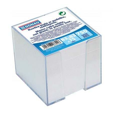 kostka nieklejona 4 alibiuro.pl Kostka DONAU nieklejona w pudełku 92x92x82mm biała 96