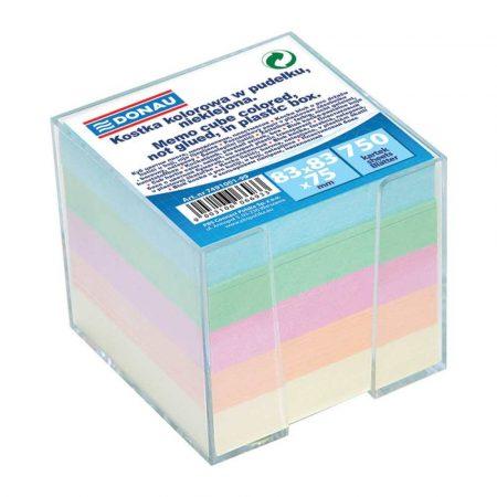 kostka nieklejona 4 alibiuro.pl Kostka DONAU nieklejona w pudełku 92x92x82mm mix kolorów 53