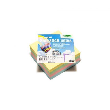 kostka papierowa 1 alibiuro.pl 9327 Karteczki samoprzylepne kostka 75 x 75 mm 400 kart. D.Rect pastelowy 86