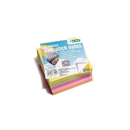 kostka papierowa 1 alibiuro.pl 9328 Karteczki samoprzylepne kostka 76 x 76 mm 400 kart. D.Rect neon 72
