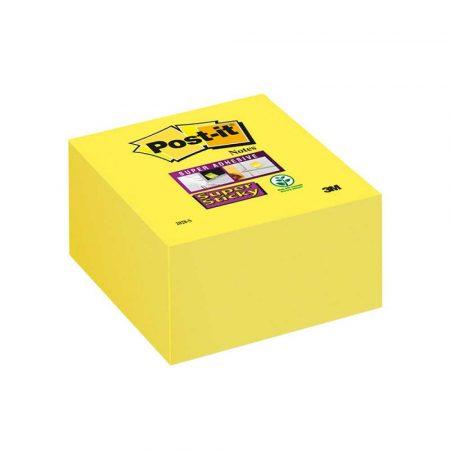 kostka samoprzylepna 4 alibiuro.pl Kostka samoprzylepna POST IT Super Sticky 2028 S 76x76mm 1x350 kart. ultra żółta 59