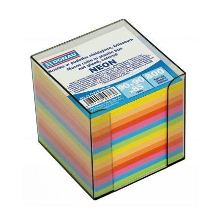 kostki papierowe 4 alibiuro.pl Kostka DONAU nieklejona w pudełku 95x95x95mm ok. 800 kart. neon mix kolorów 97